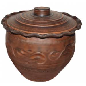 Глиняная макитра волна гончарная обьем 3 л арт.0013