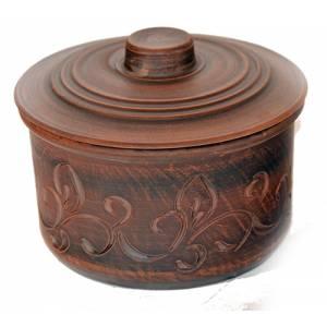 Глиняная кастрюля обьем 1.7 л арт.0011