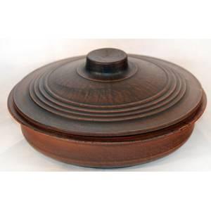 Глиняная сковорода обьем 2 л арт.008