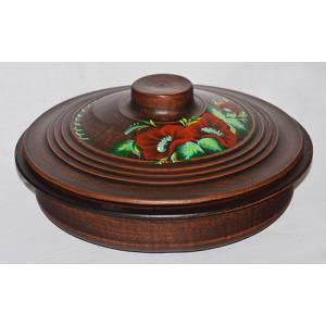 Глиняная сковорода с росписью обьем 2 л арт.0060