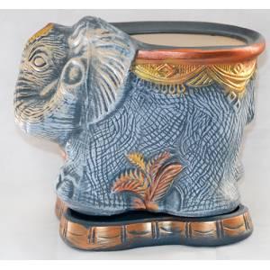 Глиняный горшок Слон малый акрил высота 24 см