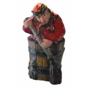 Глиняная садовая фигура Баба яга высота 50 см