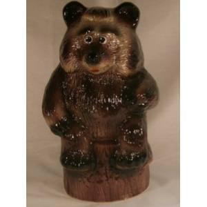 Глиняная садовая фигура Медведь большой высота 43 см