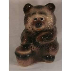 Глиняная садовая фигура Медвежонок высота 30 см
