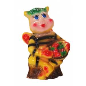 Глиняная садовая фигура Пчела высота 35 см