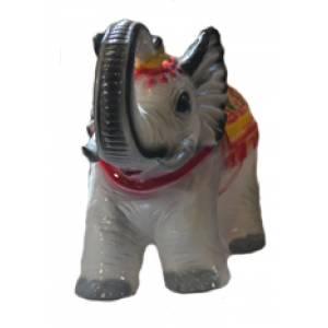 Глиняная садовая фигура Слон сувенир высота 35 см
