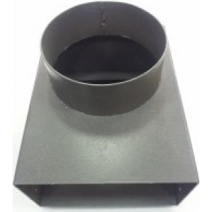 Переходник для дымохода твердотопливного котла МаксиТерм диаметр 150 мм, размер 100*200 мм с прямоугольного на круглый