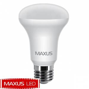 Лампа светодиодная Maxus 7W мягкий свет R63 E27 220V 1 LED 555