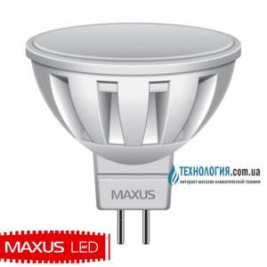 Лампа Maxus 5W мягкий свет MR16GU5.3 220V 1 LED 289