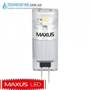 Капсульная светодиодная лампа Maxus 1W мягкий свет G4 12V 1 LED 339 T