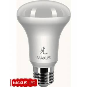 Лампа светодиодная Maxus 7W мякий свет R63 E27 220V 1 LED 363
