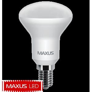 Лампа светодиодная Maxus 5W мягкий свет R50 E14 220V 1 LED 553