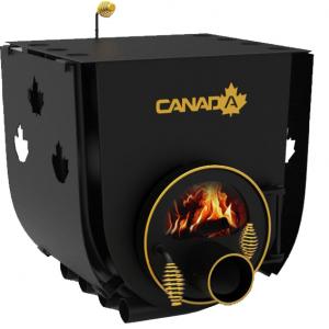 Дровяная печь Canada c варочной поверхностью 11 кВт со стеклом