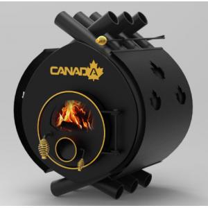 Печь отопительная дровяная Canada classic 35 кВт стекло и перфорация