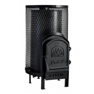 Дровяная печь без выноса для бани и сауны Свит Саун PAL PR-18 с чугунной дверкой