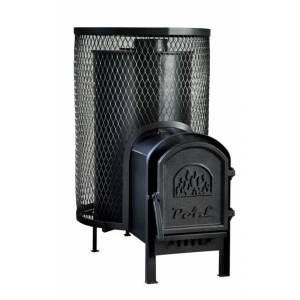 Дровяная печь выносная топка для бани и сауны Свит Саун PAL PR-18L с чугунной дверкой