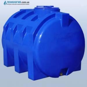 Емкость горизонтальная на 1000 литров двухслойная Euro Plast