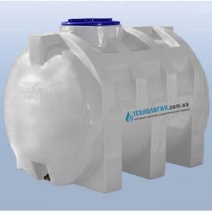 Емкость горизонтальная на 1000 литров однослойная Euro Plast