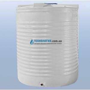 Емкость вертикальная на 12500 литров однослойная Euro Plast