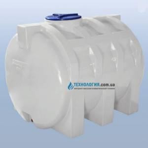 Емкость горизонтальная на 1500 литров однослойная Euro Plast