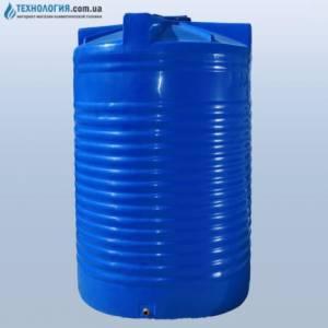 Емкость вертикальная на 17500 литров двухслойная Euro Plast