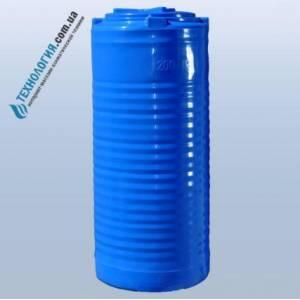 Емкость вертикальная на 200 литров двухслойная Euro Plast