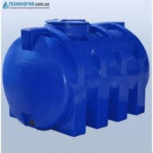 Емкость горизонтальная на 2000 литров двухслойная Euro Plast