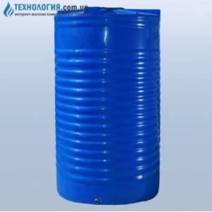 Емкость вертикальная на 20000 литров двухслойная Euro Plast