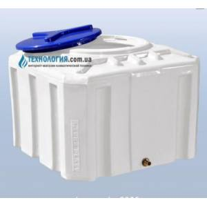 Емкость квадратная на 300 литров однослойная Euro Plast