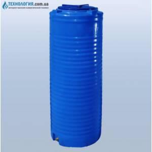 Емкость вертикальная узкая на 300 литров двухслойная Euro Plast