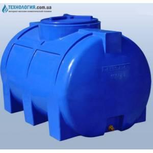 Емкость горизонтальная на 350 литров двухслойная Euro Plast