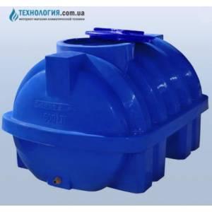 Емкость усиленная с ребром горизонтальная на 500 литров двухслойная Euro Plast