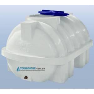 Емкость усиленная с ребром горизонтальная на 500 литров однослойная Euro Plast