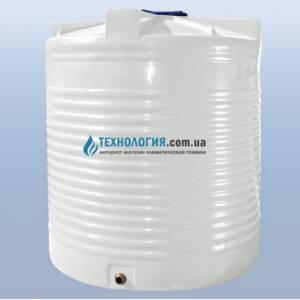 Емкость вертикальная на 5000 литров однослойная Euro Plast