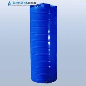 Емкость узкая вертикальная на 1000 литров двухслойная Euro Plast