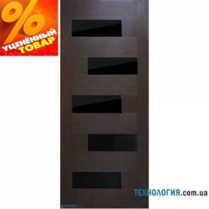 Дверь Домино черное стекло СС ПВХ второй сорт