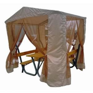Стол садовый с лавками, навесом и сеткой Rud RTB-1FT