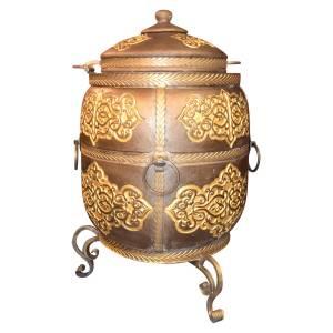 """Тандыр """"Тугарин New"""" утепленный большой 170 литров цвет золото полная комплектация"""