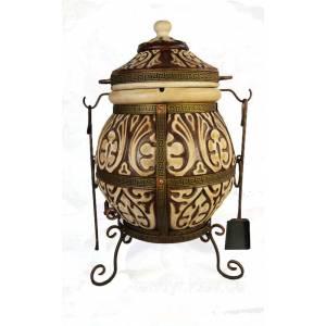 """Печь тандыр """"Аттика-М"""" объём 85 литров с градусником и треногой"""