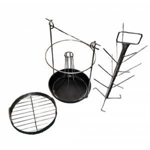 Комплект трансформер 3 в 1-ом для тандыра с горловиной диаметром 250 мм с чугунной сковородкой