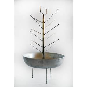 Елка с алюминиевой сковородкой для тандыра с горловиной диаметром 200 мм