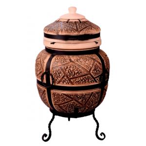 """Тандыр печь """"Дизайн дикий камень"""" 75 литров"""