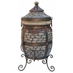 """Печь тандыр """"Кирпич-М"""" объём 60 литров с поворотно-откидной крышкой"""