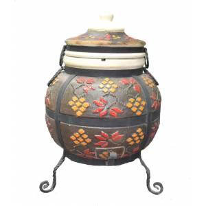 """Тандыр печь """"Дизайн Украинский коричневый"""" модель № 3"""