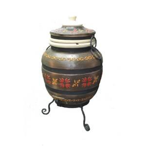 """Тандыр печь """"Дизайн Украинский коричневый"""" модель № 4"""