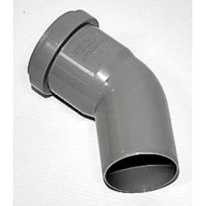 Колено для внутренней канализации Европласт 32 мм угол 45°, цвет белый