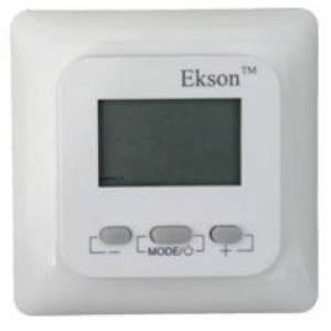 Цифровой электронный терморегулятор Ekson - EX - 01 с дисплеем и датчиком температуры пола