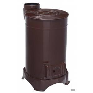 Дровяная печь (каминофен-буржуйка) DUVAL erendemir EYС-303- 4 квт, с варочной поверхностью, металл эмалированный