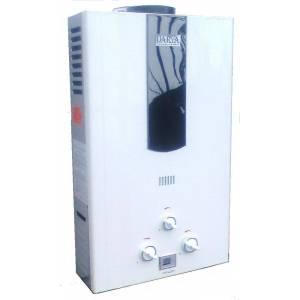 Газовая колонка Darya 10L белая LCD (дымоходная пьезо, 10л/мин)
