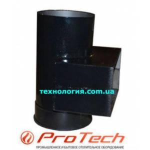 Переходник для дымохода твердотопливного котла с сажетруской  ProTech TT диаметр 150 мм, размер 210*100 мм (с прямоугольного на круглый)